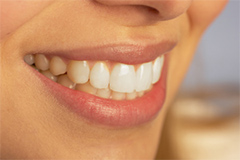 closeup of woman's perfect smile